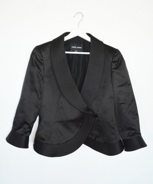 Giorgio Armani Jacke Blazer Seide Taft schwarz Luxus Pur IT 48 L DE 42