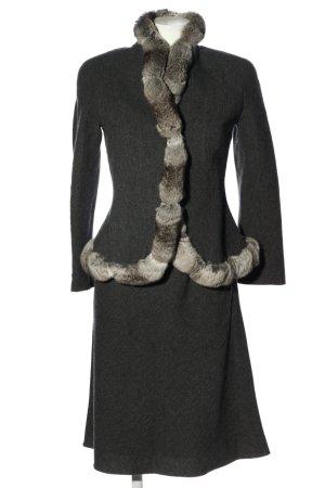 Giorgio  Armani Kostüm hellgrau meliert Elegant