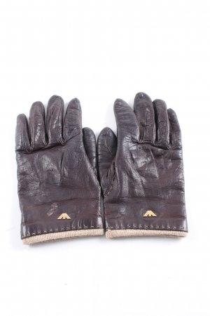 Giorgio  Armani Leather Gloves brown business style