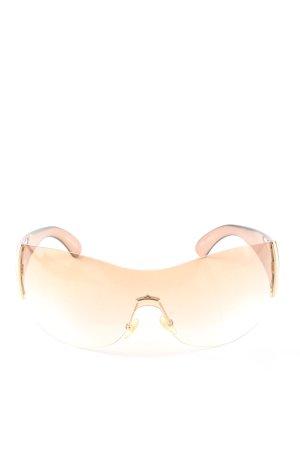 Giorgio  Armani Oval Sunglasses nude casual look