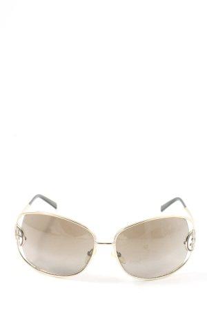 Giorgio  Armani Lunettes de soleil ovales crème style d'affaires