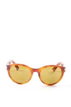 Giorgio  Armani runde Sonnenbrille blassgelb-braun Casual-Look