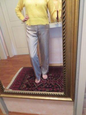 Giorgio Armani Seide Palazzo Pants - Größe 38/M - weite Stoff Hose - Geometrisch Pyjama Muster