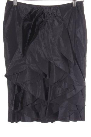 Giorgio  Armani Seidenrock schwarz Elegant