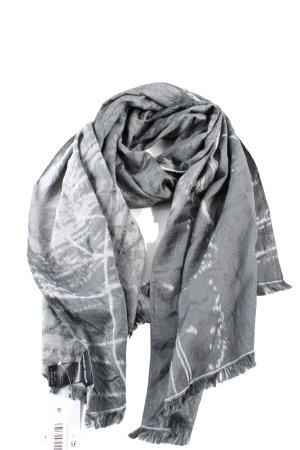 Giorgio  Armani Silk Scarf light grey-white allover print casual look