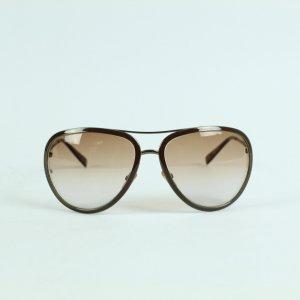 Giorgio  Armani Lunettes de soleil ovales cognac-brun noir