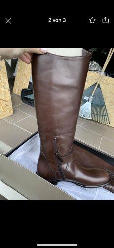 Giorgio  Armani Wide Calf Boots brown