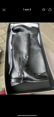 Giorgio  Armani Wide Calf Boots black