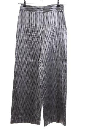 Giorgio  Armani Stoffhose silberfarben-schwarz Allover-Druck extravaganter Stil