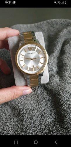 Giorgio  Armani Watch With Metal Strap silver-colored