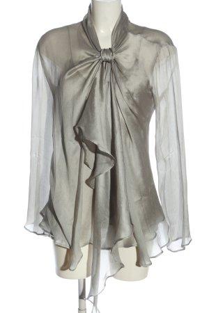 Giorgio  Armani Podwójny zestaw ze splotu siatka jasnoszary W stylu casual