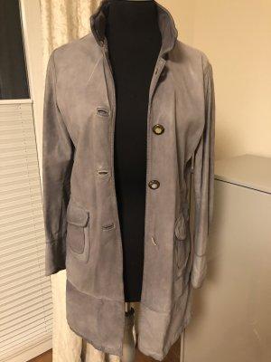 Giorgio Brato Manteau en cuir gris-gris clair