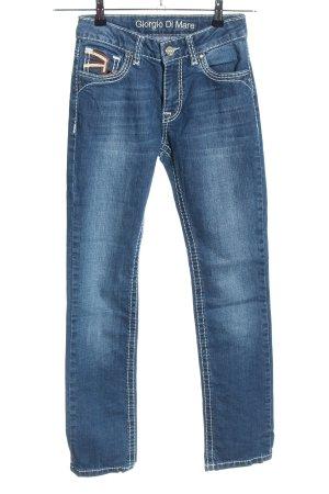 Giorgio di Mare Vintage Slim Jeans blau Casual-Look