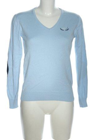 Giorgio di Mare Vintage V-Ausschnitt-Pullover blau Casual-Look