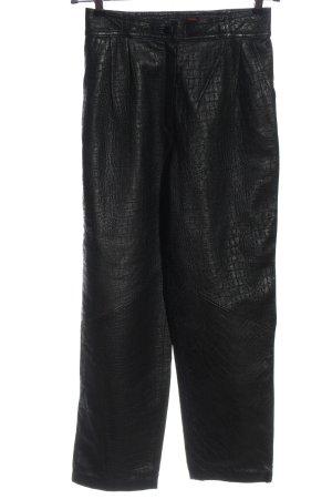 Giorgio Mobiani Leren broek zwart casual uitstraling