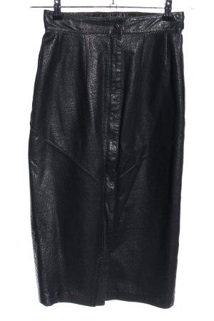 Giorgio Mobiani Leather Skirt black casual look