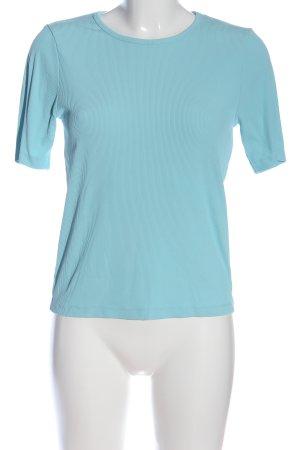 Giorgio Camisa acanalada azul estampado a rayas look casual