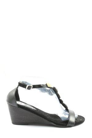 Gios Eppo Sandały klinowe na obcasie czarny W stylu casual