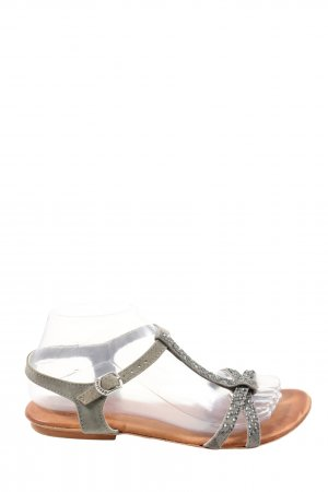 Gios Eppo T-Strap Sandals light grey casual look
