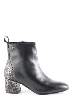 Gioseppo Reißverschluss-Stiefeletten schwarz Animalmuster Business-Look