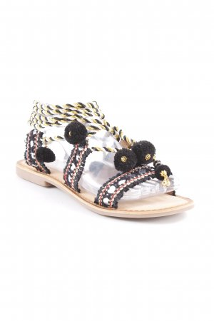Gioseppo Roman Sandals abstract pattern extravagant style
