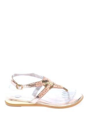Gioseppo Toe-Post sandals bronze-colored casual look