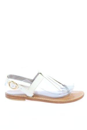 Giovanna Santoro Sandalo toe-post bianco stile casual