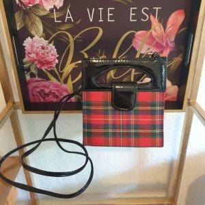 Giovanni & Couture! Karierte Lackleder Tasche Clutch Wie Neu! Echt Vintage
