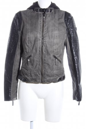 Gipsy Biker Jacket light grey-black casual look