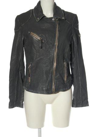 Gipsy Biker Jacket light grey casual look