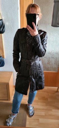 Gipsy Manteau en cuir brun cuir