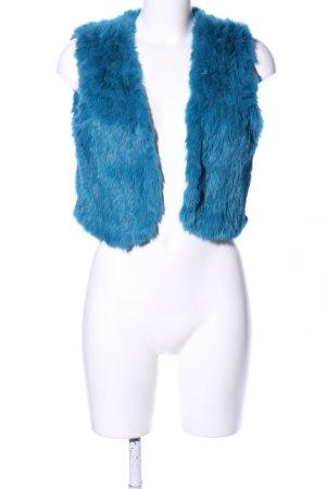 Gipsy Kunstfellweste blau Casual-Look