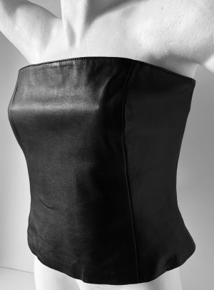 Gipsy Corsage Top black leather