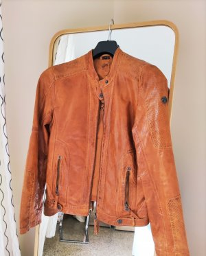 Gipsy Leather Jacket cognac-coloured
