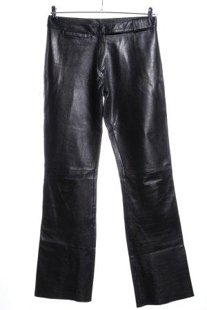 Gipsy Pantalone in pelle nero effetto bagnato