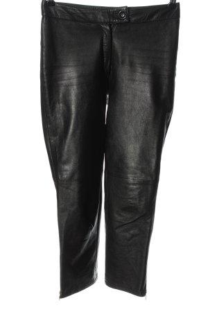 Gipsy Lederhose schwarz Casual-Look