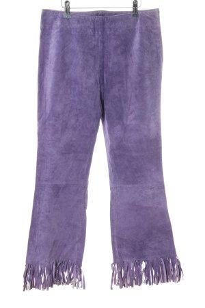 Gipsy Lederhose lila extravaganter Stil