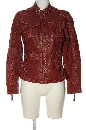 Gipsy Skórzana kurtka czerwony W stylu casual