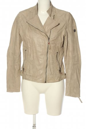 Gipsy Giacca in pelle crema stile casual