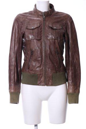 Gipsy Lederjacke bronzefarben-khaki Casual-Look