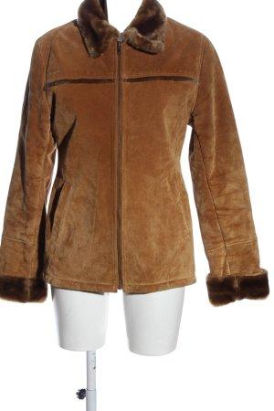 Gipsy Giacca in pelle marrone stile casual