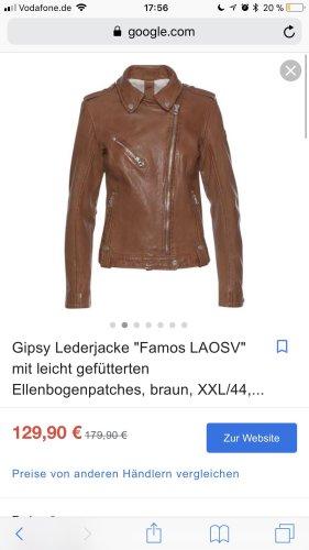 Gipsy Veste en cuir bronze