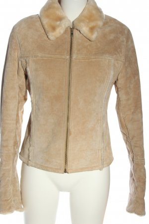 Gipsy Giacca in pelle bianco sporco stile casual