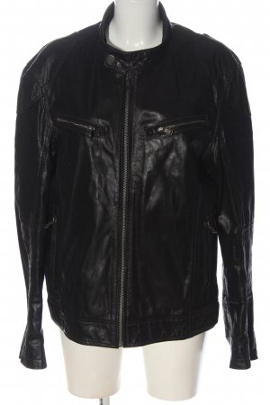 Gipsy Leather Jacket black casual look