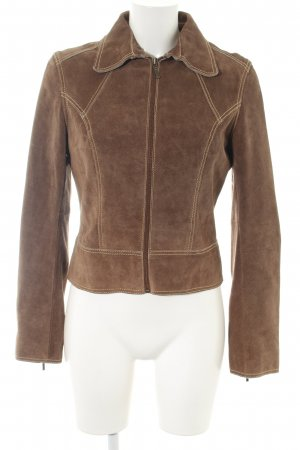 Gipsy Leather Jacket brown casual look