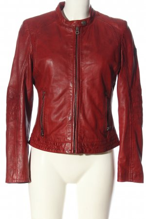 Gipsy Leather Jacket red casual look