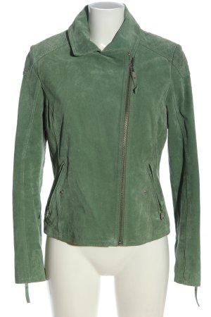 Gipsy Lederjacke grün Casual-Look