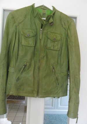 Gipsy Leather Jacket grass green leather