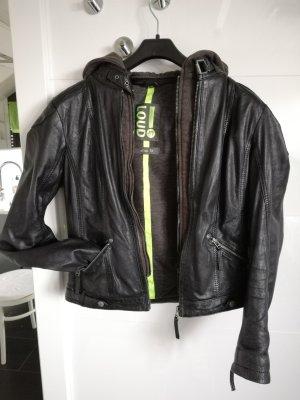 Gipsy Leather Jacket black-dark grey