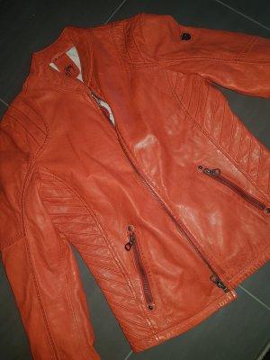 Gipsy Giacca in pelle rosso-rosso mattone